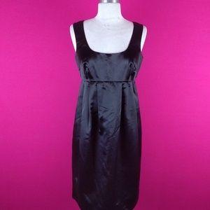 @ Michael Kors Black sz 4 Sateen Dress Pleated
